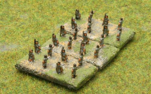 6mm Warmaster Ancients Macedonian army: Skirmishers