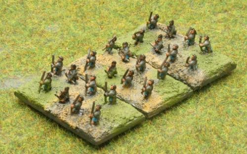 6mm Warmaster Ancients Macedonian army: Archers