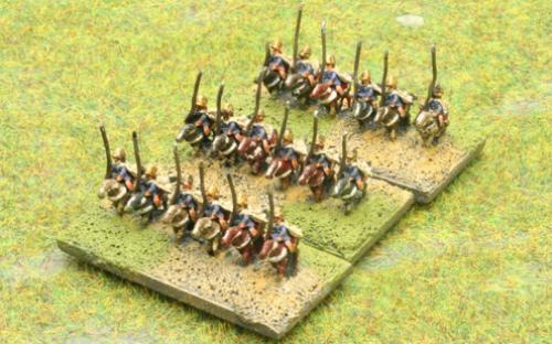 6mm Warmaster Ancients Macedonian army: Heavy cavalry