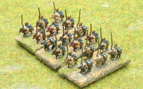 6mm Warmaster Ancients Macedonian army: Heavy cavalry (shock)