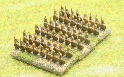 6mm Warmaster Ancients Early Persian army: Greek Hoplites
