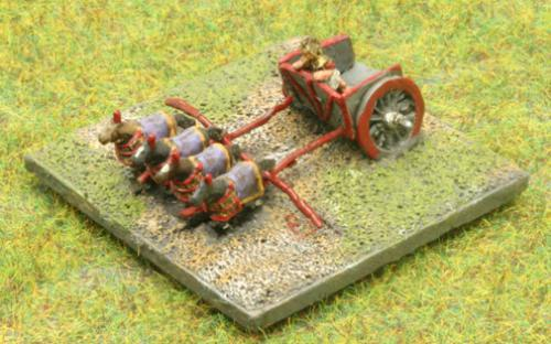 6mm Warmaster Ancients Late Persian army: Scythed Chariots
