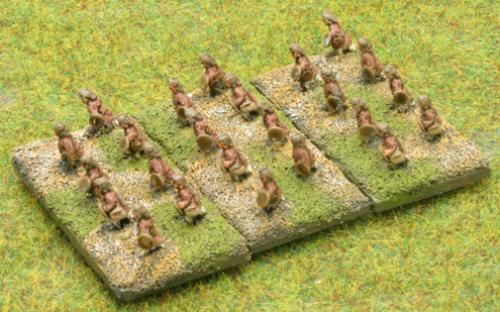 6mm Warmaster Ancients Late Persian army: Skirmishers