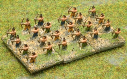 6mm Warmaster Ancients German army: Archers
