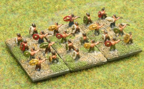 6mm Warmaster Ancients Dacian army: skirmishers