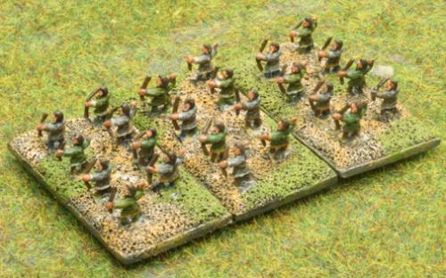 6mm Warmaster Ancients Dacian army: Archers
