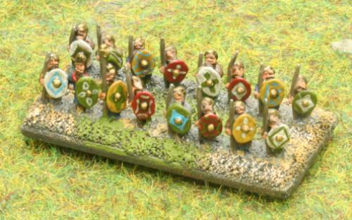 6mm Warmaster Ancients Dacian army: Warriors