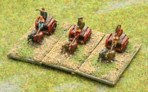 Warnaster Ancients British 6mm Chariots