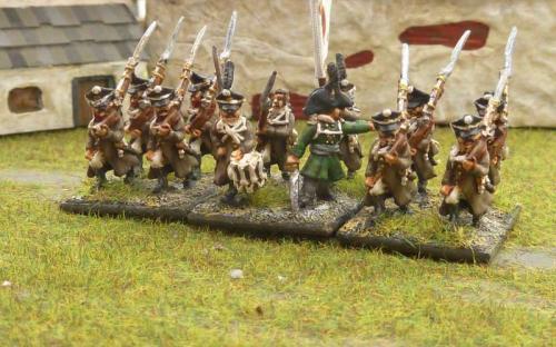 Russian line infantry in great coats