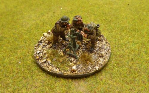 28mm WW2 British Army (Warlord Games) mortar