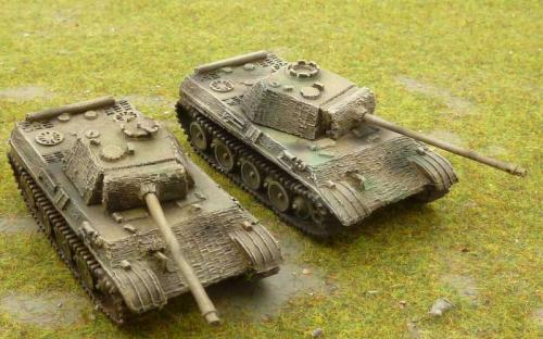 15mm WW2 German Panther G Tanks  with Zimmerit