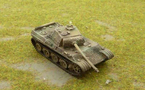 15mm WW2 German Panther G Tank  with Zimmerit