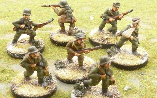 WW2 German infantry (Bolt Action miniatures castings)