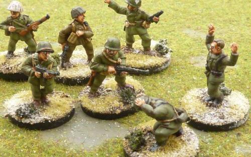 WW2 US and German infantry (Bolt Action miniatures castings)