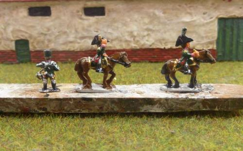 10mm Napoleonic Russian mounted General and drummer (Bend Sinister's Redline miniatures)