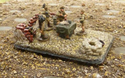 15mm Italian Bersaglieri (light infantry) Command base
