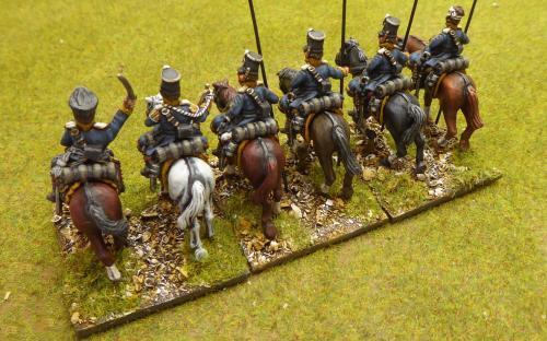 28mm Napoleonic Prussian Landwehr cavalry (Silesia Regiment). Calpe miniatures.