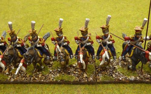"""28mm Napoleonic French Imperial Guard """"Red"""" Lancers (Front Rank)"""