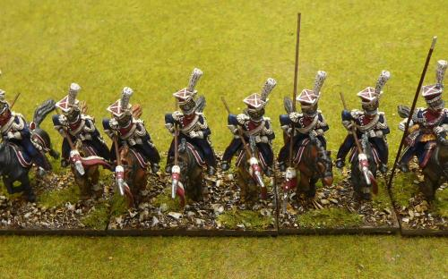 28mm Napoleonic French Imperial Guard Polish Lancers (Front Rank)