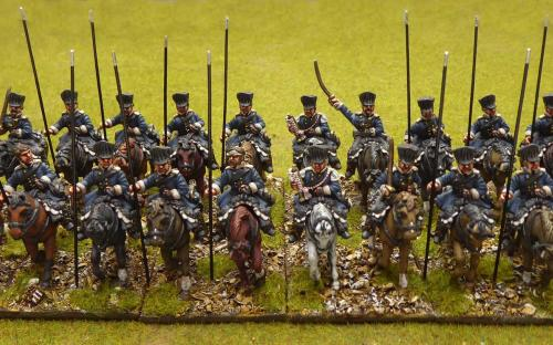 28mm Napoleonic Prussian Landwehr cavalry (Pomeranian) - these are Calpe miniatures.