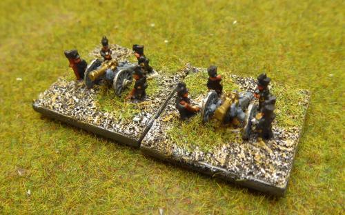 6mm Napoleonic Brunswick artillery (Baccus miniatures)