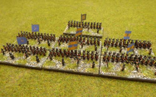 6mm Napoleonic Brunswick infantry (Baccus miniatures)