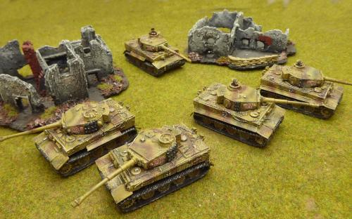 FOW-GBX15   101 SS-sPzAbt Heavy Tank Platoon (x5 Tiger 1E) set