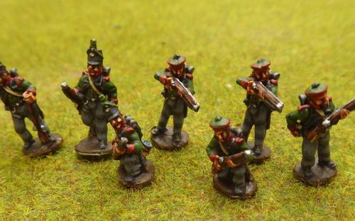 15mm Napoleonic British Riflemen