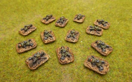 10mm WW2 German dead markers (Pendraken miniatures)