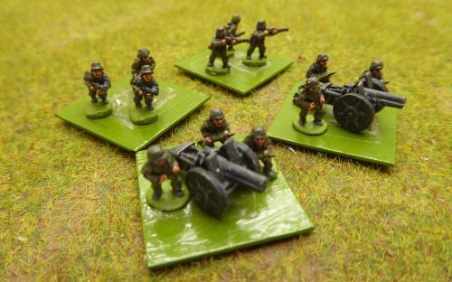 10mm WW2 German artillery (Pendraken miniatures)
