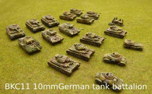 BKC11 10mm German tank battalion (Pendraken miniatures)