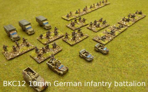 BKC12 10mm German infantry battalion (Pendraken miniatures)