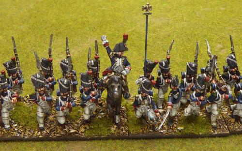 28mm Old Guard Chasseur battalions (Old Glory with some Connoisseur, Elite figures)