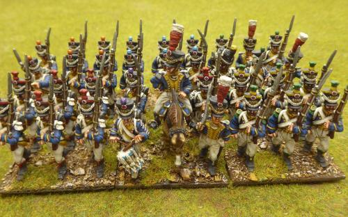 28mm Napoleonic Vistula Legion 3rd line (Front Rank miniatures)