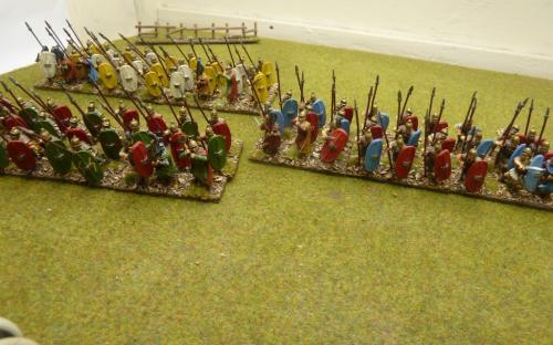 28mm Ancient Cartheginian Libyan Heavy Infantry. Old Glory Figures.