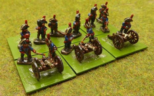 10mm Napoleonic Spanish horse artillery (Magister Militum miniatures)