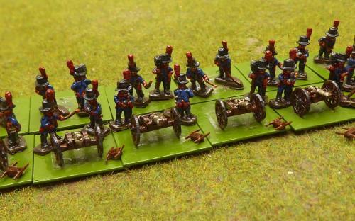 10mm Napoleonic Spanish foot artillery (Magister Militum miniatures)