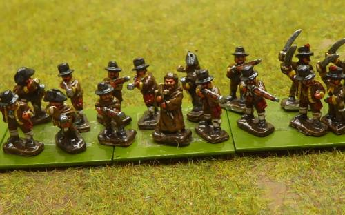 10mm Napoleonic Spanish Guerillas (Magister Militum miniatures)