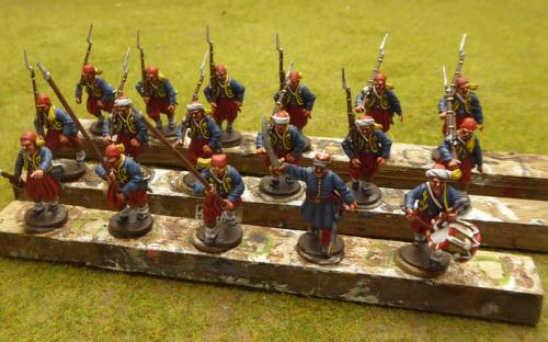 28mm ACW Federal 74th Zouaves (Perry miniatures)