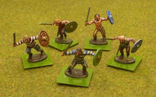 28mm Ancient British Warriors (Warlord Games). From the Hail Caesar range.