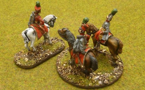 28mm Napoleonic Austrian Generals from Elite miniatures.