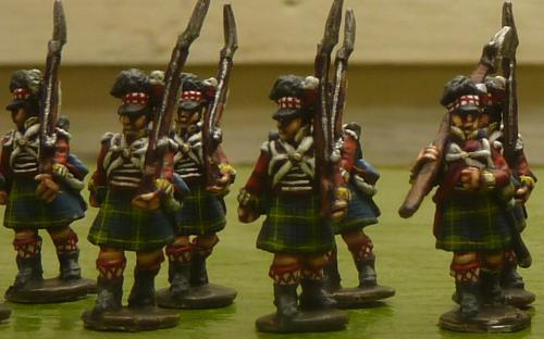 15mm Napoleonic British 42nd Highlanders (Blue Moon miniatures)
