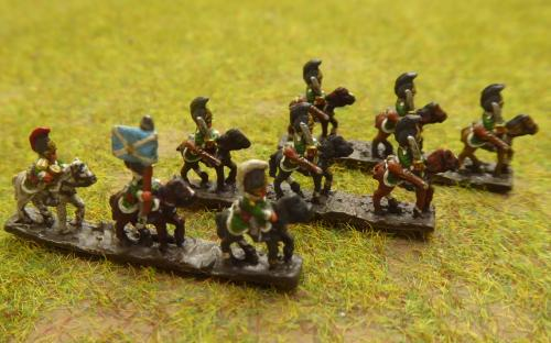 Russian Dragoons (6mm Baccus miniatures)