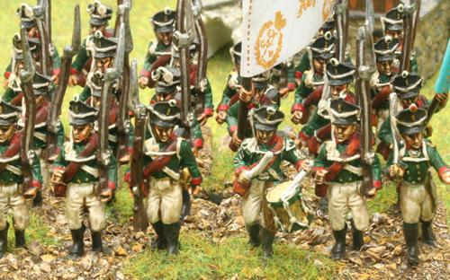 Russian infantry (only Kiewer shako available)