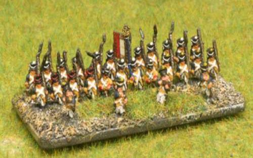 6mm Napoleonic Dutchy of Warsaw infantry painted as Visula Legion