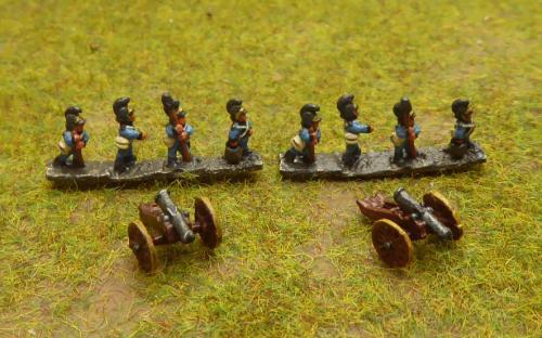 Wurttemberg artillery (6mm Baccus miniatures)